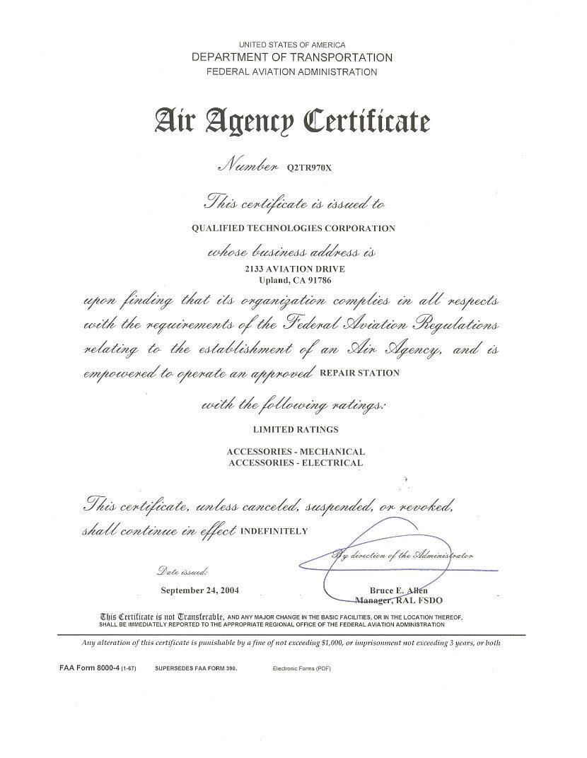 FAA Air Agency Certification